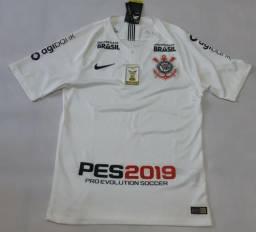 8cb748e124c Camisa Corinthians Nike I Home 2018 Jogador Pes2019 Original Vaporknit
