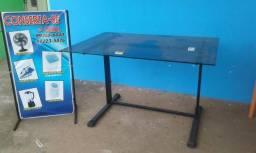 Leia urgente mesa linda de escritório blindex