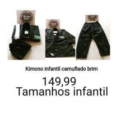 Kimonos Camuflado Tamanhos infantis M 1,M 2 ,M3,M4 Produtos novos e embalados