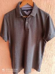 Camisa polo Tommy Hilfiger M cinza escuro