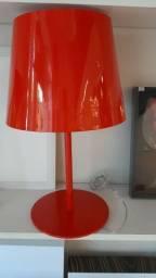 Abajur vermelho comprar usado  Feira De Santana