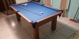 Mesa Tentação Redinha Cor Cerejeira Tecido Azul Mod. KPVX6858