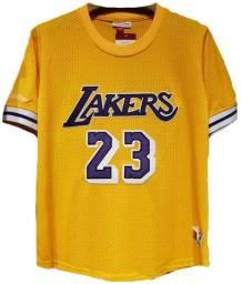 Camisa Basquete Los Angeles Lakers Amarela