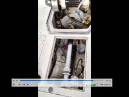 Motor Mercedes 352 turbinado e marinizado com sistema completo pé de galinha!