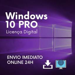 Chave Windows 10 PRO Original - Ativação online - Licença vitalícia