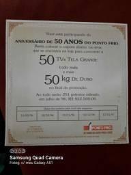 Cartão comemorativo ponto frio 50 anos