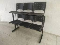 Título do anúncio: Longarina ISO com 3 lugares Assento e base preta - Sun house