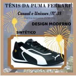 Título do anúncio: Tênis da Puma Ferrari Casual Unissex número 38 (forma pequena)      ZAP: *