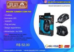 Mouse Gamer com fio 1600DPI