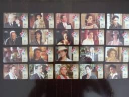 Título do anúncio: 20 Cartões Telefônicos - Série Completa - Novela Um Só Coração