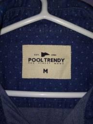 Camisa Pool Manga Longa Azul