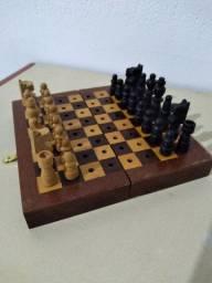 Mini Tabuleiro de Xadrez em Madeira