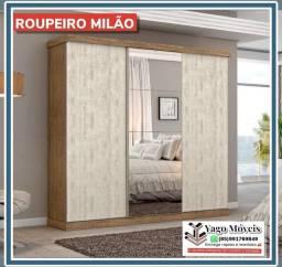 Título do anúncio: Guarda Roupa Milão com espelho 3 portas grandes corrediças em Mega Promoção !