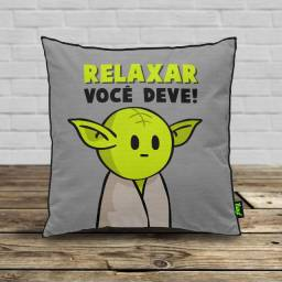 "Almofada ""Relaxar Você Deve"" DrPepper Mestre MiniOda"
