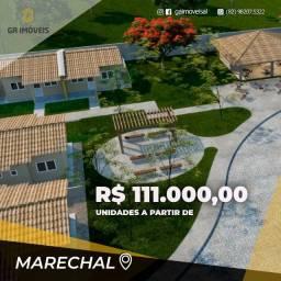 Casa em condomínio fechado 111.000,00 -Marechal Deodoro