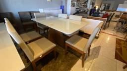 Título do anúncio: Mesa de seis cadeiras de madeira maciça