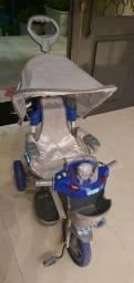 Triciclo Azul Capota Removível Azul C/ Musica