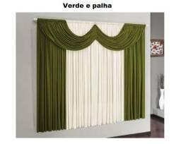 Cortina para janela modelo Riviera: 2,00  X 1,70 m de altura - Aprop.. para varão Simple