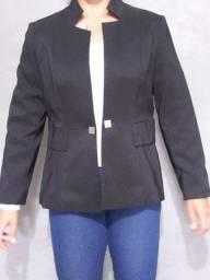 blazer feminino - gola especial - preto