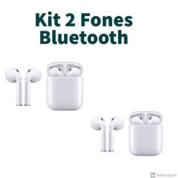 KIT com 2 Fones Bluetooth novo Air Pod