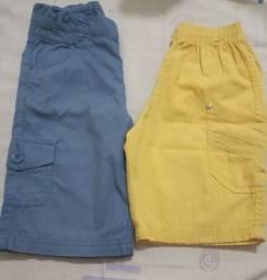 Título do anúncio: Lotinho de Bermudas Jeans e Tactel Tam 06!