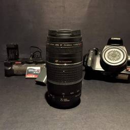Câmera DSLR Canon XTi + Acessórios completos