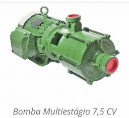 Bomba D'água Centrífuga Horizontal Multiestágios (7.5 CV) Trifásica Schneider