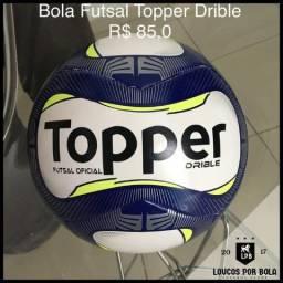 Bola Futsal Topper Drible Azul 002dcd4e3a