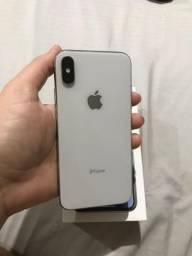 Iphone X prata 64g completo