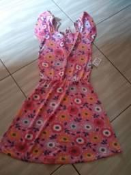 Vestido malha infantil 8 a 10 anos