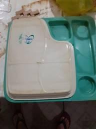 Bandeja de refeição térmica hospitalar 100 reais cada comprar usado  Nova Iguaçu