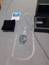 Corrente de prata /relógio