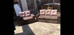 Conjunto sofá 2 e 3 lugares em até 10x sem juros