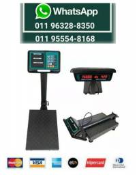 Balança Plataforma Eletrônica 150 Kg Bivolt Com Bateria
