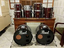 Bateria Pearl Export Red Wine Ano 2000