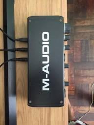 Interface de Audio M-Audio M Track Plus 2