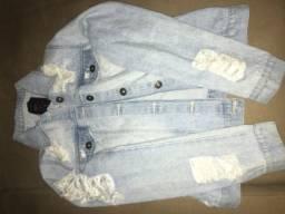Jaqueta jeans destroyd
