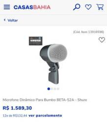 Microfone Dinâmico Para Bumbo BETA-52A - Shure