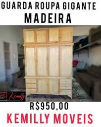 GUARDA ROUPA DE MADEIRA NOVO