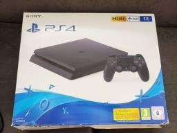 Título do anúncio: Playstation 4 1tb na caixa + jogos