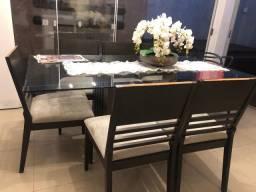 Mesa com tampão de vidro 1.80 x 1.00