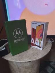 Cauxa de celular A01 é motog8 play