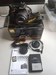 Título do anúncio: Nikon D5500 com 18-55mm VR II