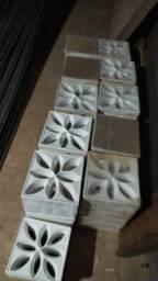 Tijolo Vazado Lótus Branco