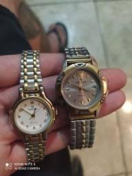 Dois relógios femininos seminovo Champion e seculos
