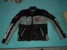 Jaqueta proteção motociclista de couro original honda