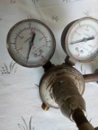 Regulador de pressão oxigenio funcionando
