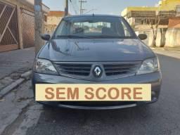 Renault logan ficha no whatsap baixa entrada financiamento com score baixo - 2008