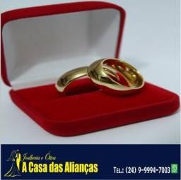 Alianças para casamento- 5 mm / 8 Gramas / Ouro 18 Kilates