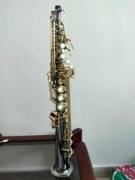 Vendo Sax soprano reto niquelado só 502 si b